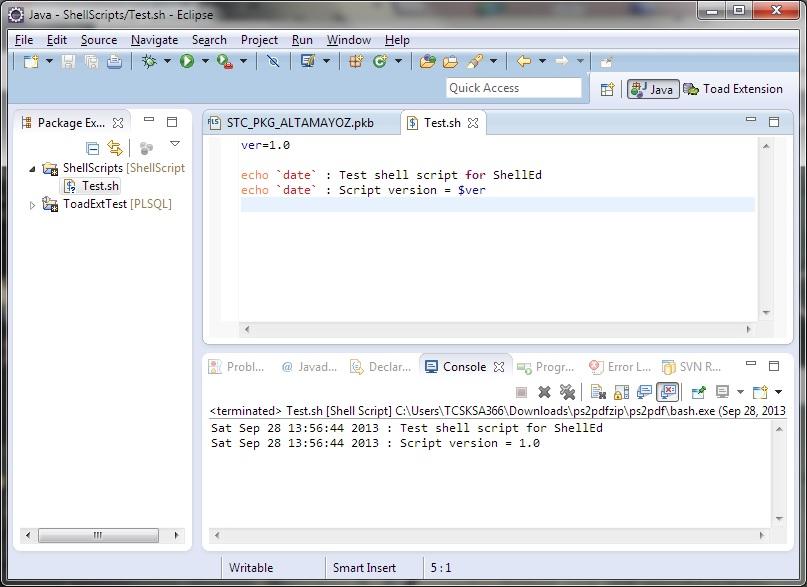 ShellEd – Shell Scripting in Eclipse « Brain Heap